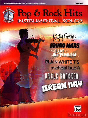 Pop & Rock Hits Instrumental Solos Violin Sheet Music Book with Play-Along CD