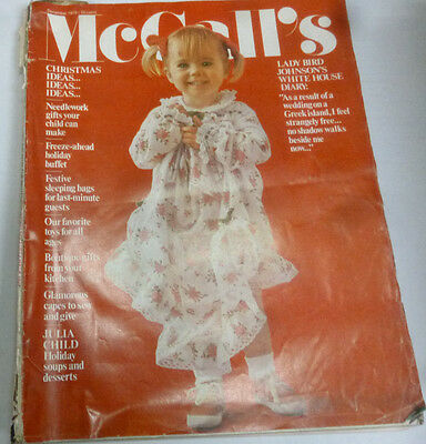 McCall's Magazine Christmas Ideas Lady Bird Johnson December 1970 010414R
