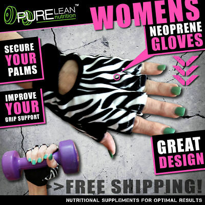 Women Fitness Gym Gloves Weight Lifting Workout Training Cycling Zebra