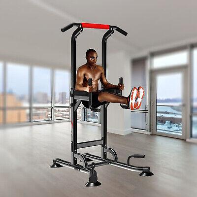Power Tower Chin Up Station - Dip - Pull Up -Vkr Knee Raise - Weight Bench