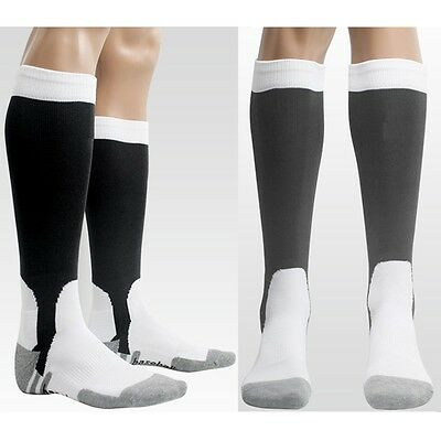 1 Pair Mens Baseball Softball Soccer Sport Socks Black Charcoal Gray
