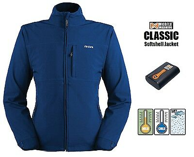 Mens Ansai Mobile Warming Battery Heated Electric Jacket Waterproof Breathable