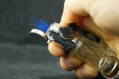 Jet Torch Flame Windproof Butane Refillable Lighter
