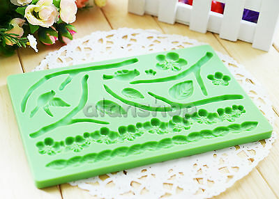 Fondant And Gum Paste Plum Blossom Silicone Icing Mold Fabric Cake Decorating