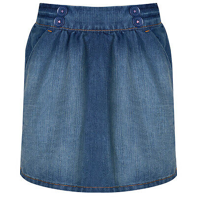 Girls Denim Skirt, Elasticated Waistband 12 Months - 7 Years