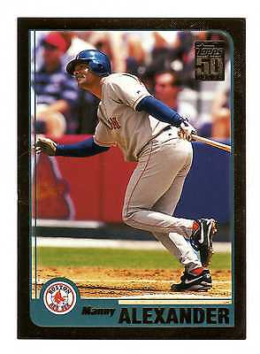 2001 Topps Gold BB #69 Manny Alexander Red Sox BV$5 #1644/2001
