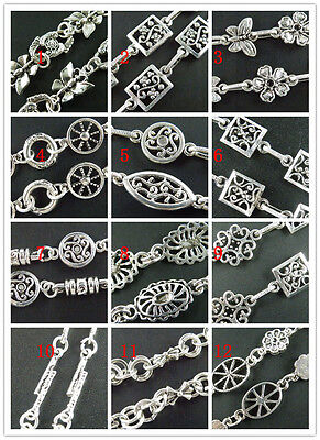 1piece Tibetan Silver Chains 100cm 12style-1 Jewelry Making