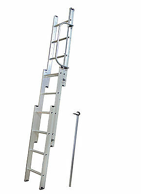 New 3 Section 3M Aluminium Loft Attic Extendted Extentable Folding Ladder