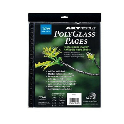 Itoya Polyglass Refill Pages 8.5X11 Pack/10