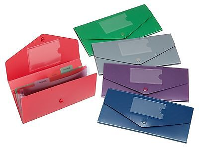 Snopake DL Plastic Travel Holder Stud Wallet Passport Tickets Insurance