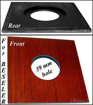 "1  LENS BOARDS 4""x 4""  for Enlarger Beseler - 39, or 50mm  hole, made of plywood"