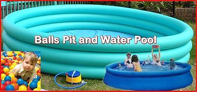 X-Large 3mtr Good Quality Kids Inflatable Water Pool Balls Pit Play Centre Pump