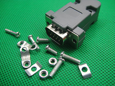 5-set Serial RS232 DB9 9-PIN MALE Assembly Solder Plug Connector with Shell