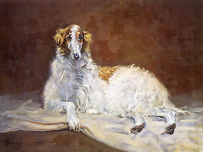 BORZOI RUSSIAN WOLFHOUND DOG ART LIMITED EDITION PRINT - by Malcolm Coward
