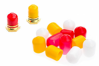 RCA Dust / Socket Caps x12 4 Red 4 Yellow 4 White + FREE Postage