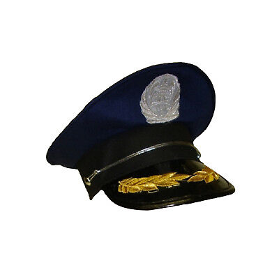 Admiral Soldier Army Navy Blue Officer Sailor Yacht Ship Captain Hat Costume