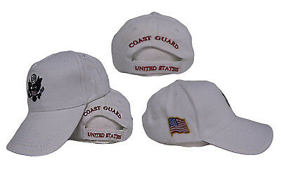 Active Duty White US Coast Guard Embroidered baseball Hat Cap