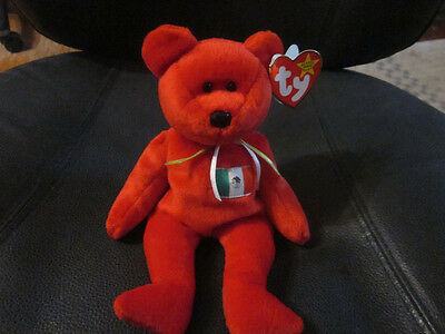 Ty Beanie Baby Osito the Mexican Bear Very Ultra Super Rare NEW Retired