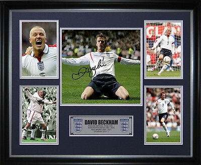 David Beckham Signed Framed Memorabilia