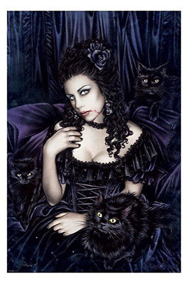 (LAMINATED) Victoria Frances Pinup POSTER (61x91cm) Gothic Girl Picture Print