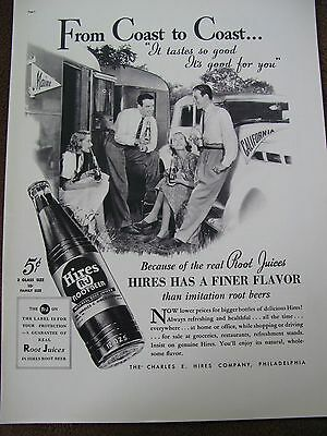 HIRES ROOT BEER 1937 ADVERTISMENT  CAR TRAILERS