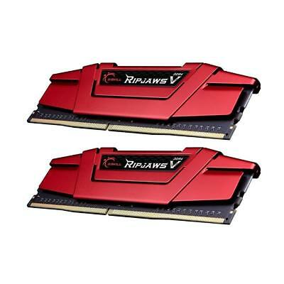 G.Skill Ripjaws V 8GB 2X4GB CL16 DDR4 2400MHz Gaming Desktop Memory RAM Kit Red