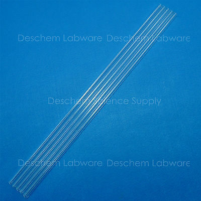 5Pcs,500mm,Glass Blowing Tube,OD=12mm,Thcik=1.5mm,ID=9mm,Made From Borosilicate