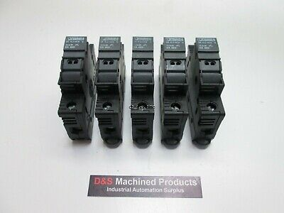 Lot of 5 Phoenix Contact UK 10.3-HESI Fuse Block Holder, 32A 690V