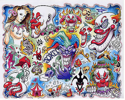 Tattoo flash sheets Over 100,000 line art Color,Black/White Full sheets ON DVD