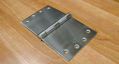 WIDE THROW BROAD BUTT HINGES SOLID STAINLESS STEEL 3.5mm THICK 100X150mm