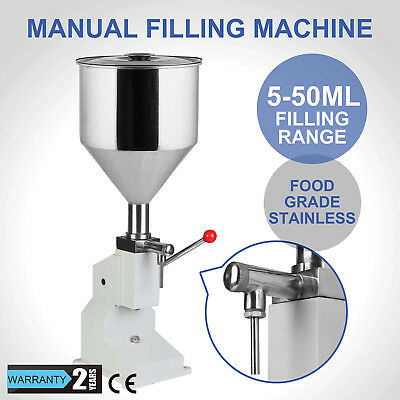 Manual Liquid Filling Machine 5-50ML Filler Oil Food Grade Stainless Shampoo