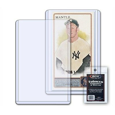 Tobacco Card Toploaders & Sleeves Fits Cards 1 15/32 x 2 11/16 inches x 20 pack