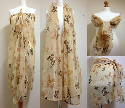 Brand New Fashionable Butterfly Printed Maxi Oversized Scarf