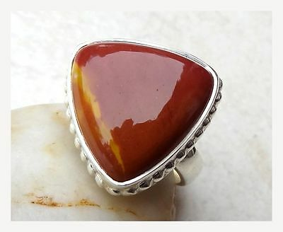 925 Sterling Silver MOOKAITE Semi Precious GEMSTONE RING SIZE N 1/2 - US 7