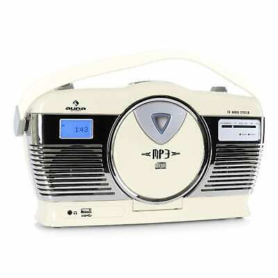 STEREO CD-RADIO PORTABLE KOFFERRADIO USB MP3-PLAYER VINTAGE RETRO LOOK 50s 50er
