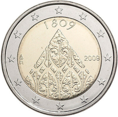Finland 2 Euro uncirculated Coin 2009 - autonomy and central government