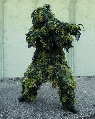 GHILLIE SUIT ANTI FIRE woodland 4 teilig FADENGHILLIE M-XXL