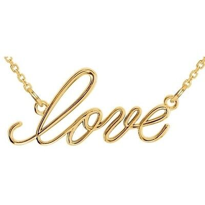 Love Necklace in 14kt Yellow Gold.