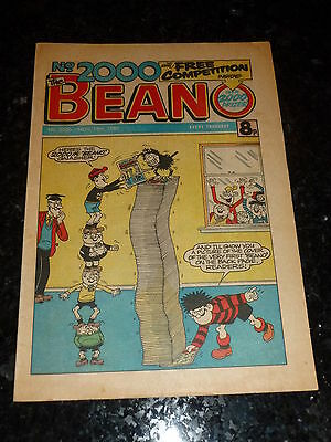 THE BEANO Comic - Issue No 2000 - Date 15/11/1980 - Year 1980 - UK Paper Comic