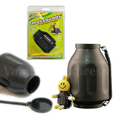 Original BLACK Smoke Buddy Personal Air Cleaner with Smokebuddy Charcoal Filter