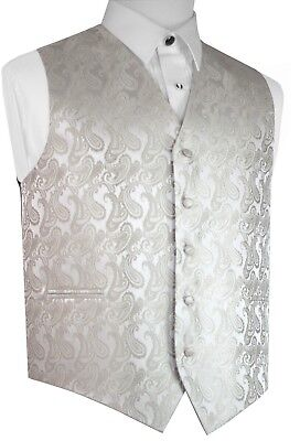 Men's Champagne Paisley Formal Dress Tuxedo Vest. Wedding, Prom