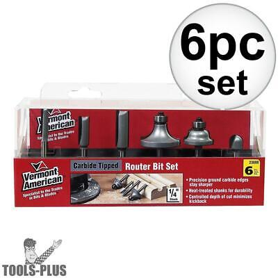 Vermont American 6 Piece Carbide Router Bit Set 23000 NEW
