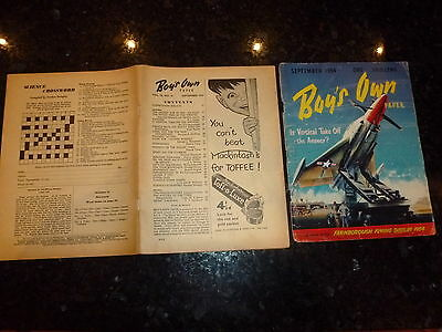 BOY'S OWN PAPER Comic - Vol 76 - No 12 - Date 09/1954 - UK Comic