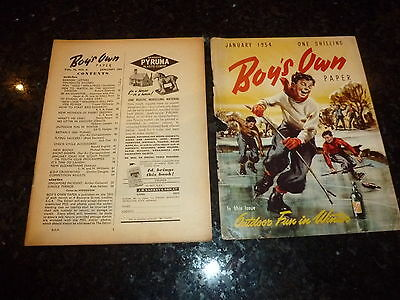 BOY'S OWN PAPER Comic - (Lose Cover) - Vol 76 - No 4 - Date 01/1954 - UK Comic