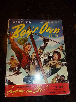 BOY'S OWN PAPER Comic - Vol 78 - No 5 - Date 02/1956 - UK Comic