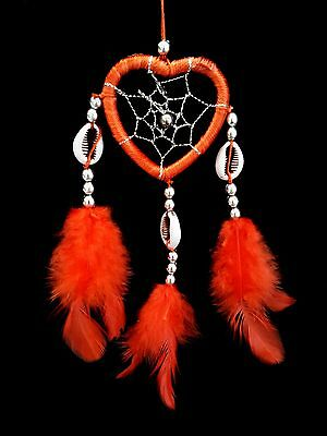 Handmade Heart-shaped Dream Catcher with Feathers car /wall hanging ornament MHR