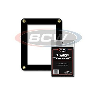 Card Holder Screwdown with Black Border & Stand x 5 pack