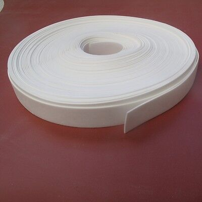 Solid Silicone Rubber Strips 1.5Mmthk X 5Mtrs Long,white 60 Shore, Fda Grade