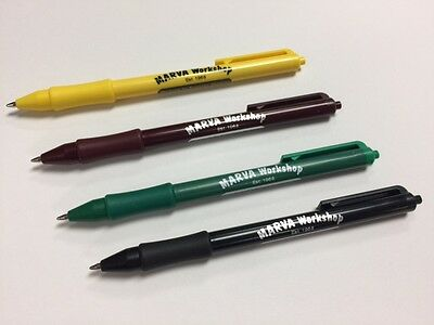 Custom printed Rubber Grip Retractable Pens (50)
