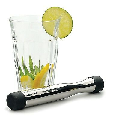 """RSVP Muddler Mojito Cocktail Mixer 8"""" Stainless Steel Mixology Infusion Bar MUDD"""